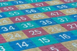 Zahlenfelder im Einstellungstest